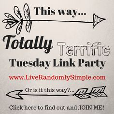 Totally Terrific Tuesday Link Party @ Live Randomly Simple