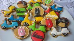 Vespa Cookies with royal icing by Noey's Cookies