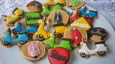 Vespa Cookies with royal icing by Noey's Cookies