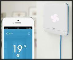 Tado modernizes air conditioners. It works with any IR remote-controlled AC unit, letting you manage it from your mobile device. Using your phone's GPS and Bluetooth capabilities, Tado can also automatically turn your AC on or off.