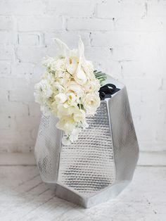 Modern All White Bouquet