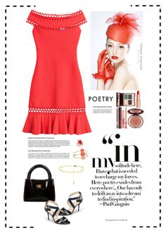 """Poetry"" by suelysara ❤ liked on Polyvore featuring Hervé Léger, Chanel, Jimmy Choo, Charlotte Tilbury and Kate Spade"