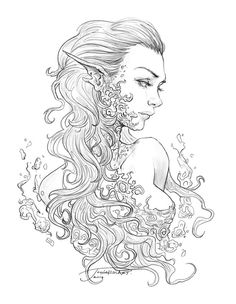 New Pictures Coloring Pages fantasy Popular The attractive matter concerning color is that it is usually as straightforward or since complicated Fairy Coloring Pages, Adult Coloring Book Pages, Coloring Books, Colouring Pages For Adults, Fantasy Kunst, Fantasy Art, Art Sketches, Art Drawings, Arte Obscura