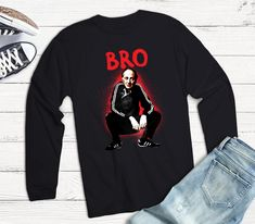 Joseph Brodsky Artist Bro Unisex Jersey Long Sleeve Tee / | Etsy Lgbt Shirts, Funny Tees, Woman Quotes, Women Empowerment, Cool Shirts, Bro, Joseph, Long Sleeve Tees, Graphic Sweatshirt