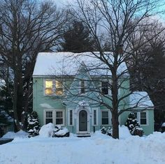 West Hartford, Winter Light, Connecticut, Mint, Exterior, Mansions, House Styles, Places, Outdoor