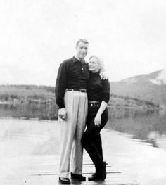 Marilyn Monroe and Joe DiMaggio in Canada 1953.