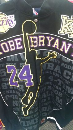 223f962222f2 Kobe Bryant Lakers NBA Basketball Jacket Coat Black Yellow Adult Mens Size  NEW Listing in the