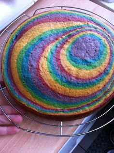 Den täglichen (Wahn)Sinn...: Regenbogenkuchen
