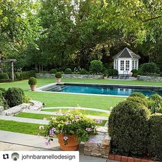 """1,007 Likes, 6 Comments - Build Prestige Homes (@build_prestige_homes) on Instagram: """"#Repost @johnbaranellodesign with @repostapp ・・・ A handsome space #symmetry #boxwood #hydrangea…"""""""