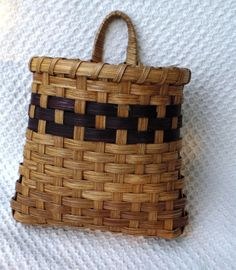 Door Basket Handwoven in Brown by basketsbyrose on Etsy, $20.00