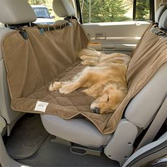 Car Hammock, protects seat and solves problem of a large dog that insists on trying to come up front!