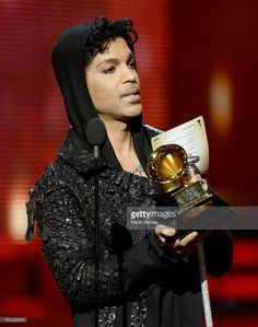 Musician Prince speaks onstage during the 55th Annual GRAMMY Awards at STAPLES Center on February 10, 2013 in Los Angeles, California.