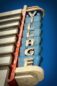 Vintage Coronado Village Theater Neon Sign - READY TO SHIP - San Diego Inspired - Movie Lovers Gift - 8X12 Fine Art Photograph. via Etsy.