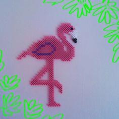 Flamingo hama beads by srta_pepitas