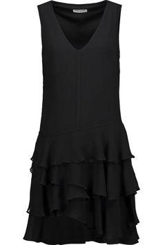 OPENING CEREMONY Mercer Ruffled Silk-Georgette Mini Dress. #openingceremony #cloth #dress