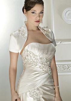 Fit N Flare Scoop Taffeta Floor Length Chapel Train Wedding Dress With Ruching - Lunadress.co.uk