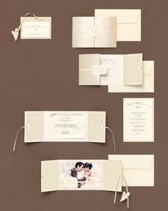 Edle Kartenserie selbst gemacht - Hier finden Sie tausend Inspirationen für Ihre Hochzeitspapeterie: Save-the-Date, Einladungskarten, Kirchenhefte, Danksagungen, Who-is-Who