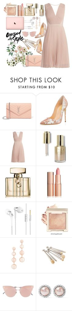"""""""Pastel Pink 🌟"""" by galpaian-elisa ❤ liked on Polyvore featuring Yves Saint Laurent, Stila, Gucci, Rebecca Minkoff, So.Ya and Miu Miu"""