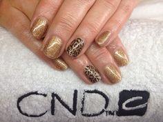 CND Shellac with hand painted animal print nail art xDBDx  www.facebook.com/DivineByDesignCNDNails