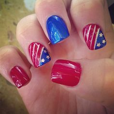 hjohnson4's festive tips. Show us your 4th of July-inspired nails! Tag your pic #SephoraNailspotting to be featured on our social sites.