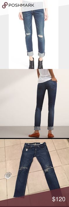 Rag & Bone Jeans Rag & Bone ripped Dre mabel slim fit boyfriend jeans size 27. The rips are ripped more than the model picture- I indicated in a photo above rag & bone Jeans