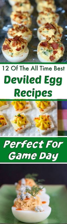 Deviled Eggs - Want to make one of the best appetizers ever? You can never go wrong with deviled eggs! They're great food for game day and superbowl parties, but these deviled egg recipes make a great party food any time of the year! #deviledeggs #partyfood #gamedayfood #appetizers