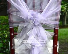 Set of 10 Custom Chair Sashes Curly by elegantsashesandmore