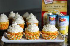 Carolina Charm: Pineapple Lemon Cupcakes {Cream Cheese Frosting}