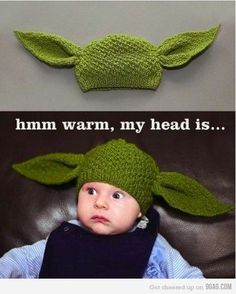Yoda Hat..Im suprised my husband hasn't  found this and bought it for our daughter..yikess!