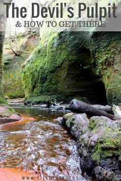 Devil's Pulpit (Finnich Glen) is a short drive from Glasgow in Scotland, offering stunning views of a 70ft gorge where legend says Satan himself once preached.