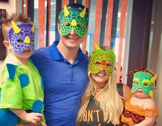 halloween mask costume turtle family