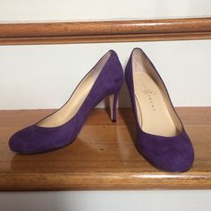 "Ivanka Trump Purple Suede Pumps, Size 6 Ivanka Trump purple suede pumps with a 3"" heel and leather soles. Only worn twice. Ivanka Trump Shoes Heels"