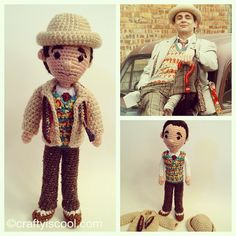 Done with the Seventh doctor! Tiny details  #doctorwho #amigurumi #crochet by CraftyisCool1, via Flickr