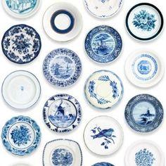 porcelain (blue plates)