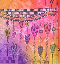 The Scrappy Chick: Art Journal pages in NEW Dylusions Creative Journal