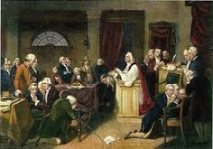 First Continental Congress 24 May 1775  The first continental congress was the first time the colonists met from all 13 colonies to decide on war. They decided to make the decloration of independance declaring themselfs free of britian therefore invoking war. There ideas had atlast lead to revolution.