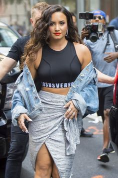 Demi Lovato leaving her hotel in NYC