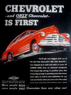 1948 Chevrolet Vintage Advertisement Classic Car Wall Art Man Cave Automotive Decor Original Magazine Print Ad Antique Automobile Ephemera by RelicEclectic on Etsy