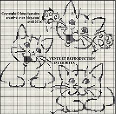 Image result for grille de point de croix sur les dames