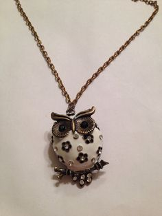 Owl Necklace  on Etsy, $8.00
