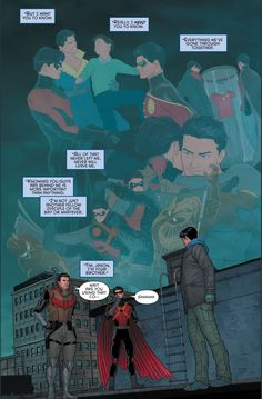 red hood and red robin's reaction to grayson's fake death 4