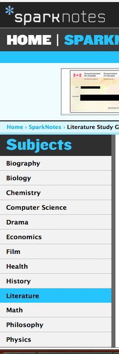 Spark Notes has Frederick Douglass Quiz