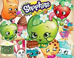 46 Shopkins Clipart PNG Shopkins Digital Graphic by greenPuppet