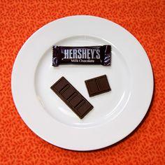 1 FUN size Hershey's bar = 67 calories 1 and 1/2 FUN size Hershey's bars = 101 calories #easter #100calories