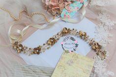 Floral Crown Pearl Bridal Tiara Bridal Diadem Crystal