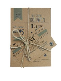 *In opdracht gemaakt* Trouwkaart pakket zeegroen/blauw