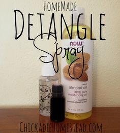 Natural Detangle Spray | ChickadeeHomestead,com