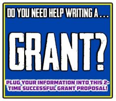 Need help writing a Grant? A Successful Grant proposal is at your fingertips!