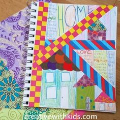 Kids Art Journal Prompts - Home