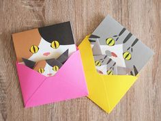 Cat Greeting Cards and Origami